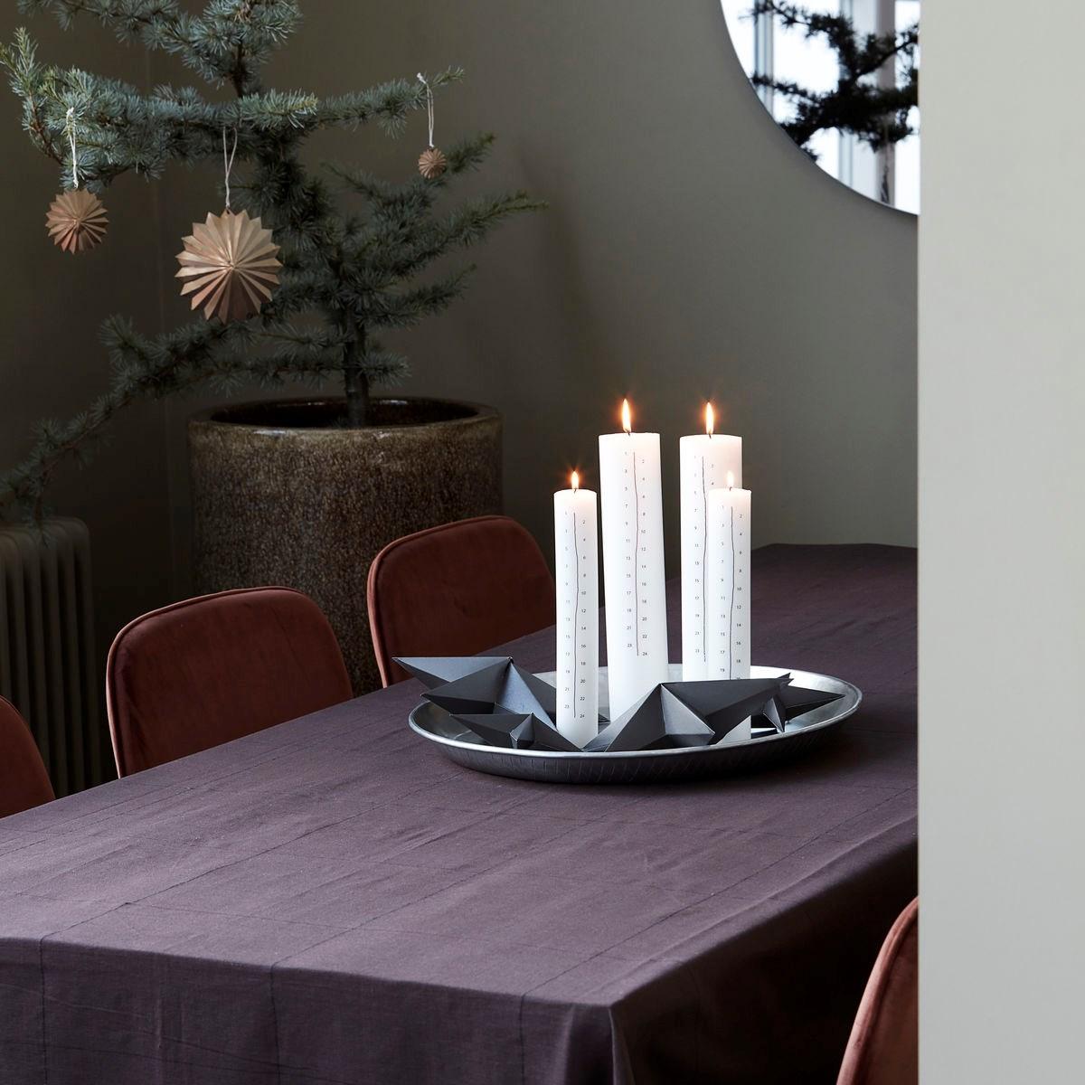 Vánoční dekorace hvězda ROSETTE 12 cm mosazná_1