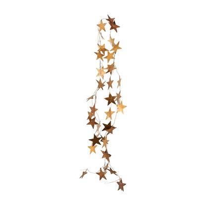 Kovová girlanda hvězdy STARS 250 cm mosazná_0