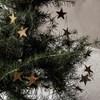Kovová girlanda hvězdy STARS 250 cm mosazná_3