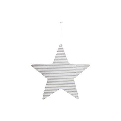 Dekorace plech. hvězda STAR stříbrná_0