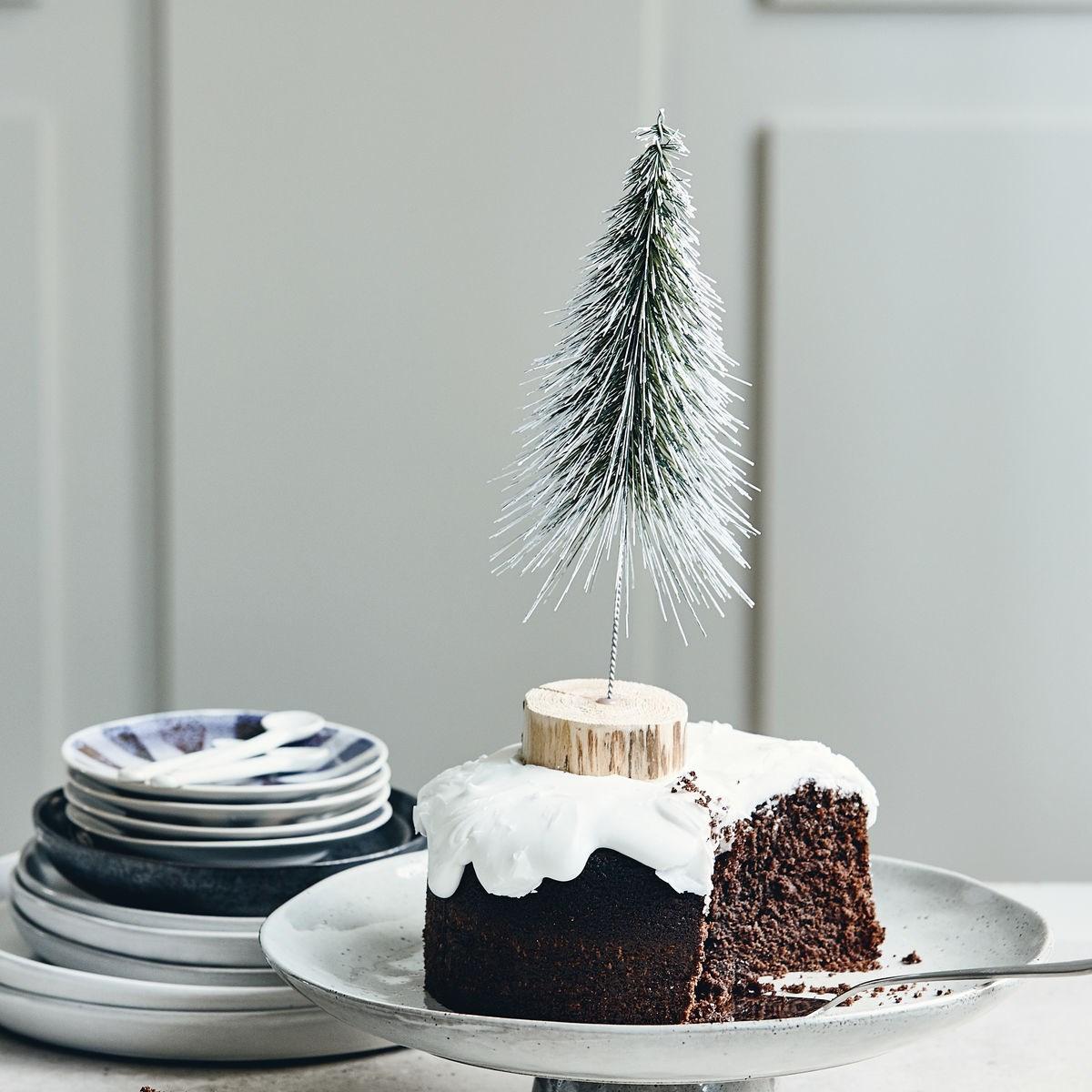 Dekorace vánoční strom SPINKLE 30 cm, zasněžený_0