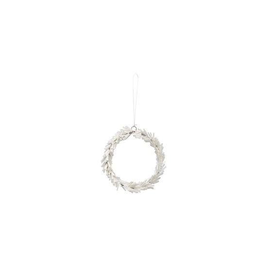 Věnec ze skleněných korálků CIRCLE P.10 cm stříbrný_0
