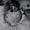 Věnec ze skleněných korálků CIRCLE P.10 cm stříbrný_1