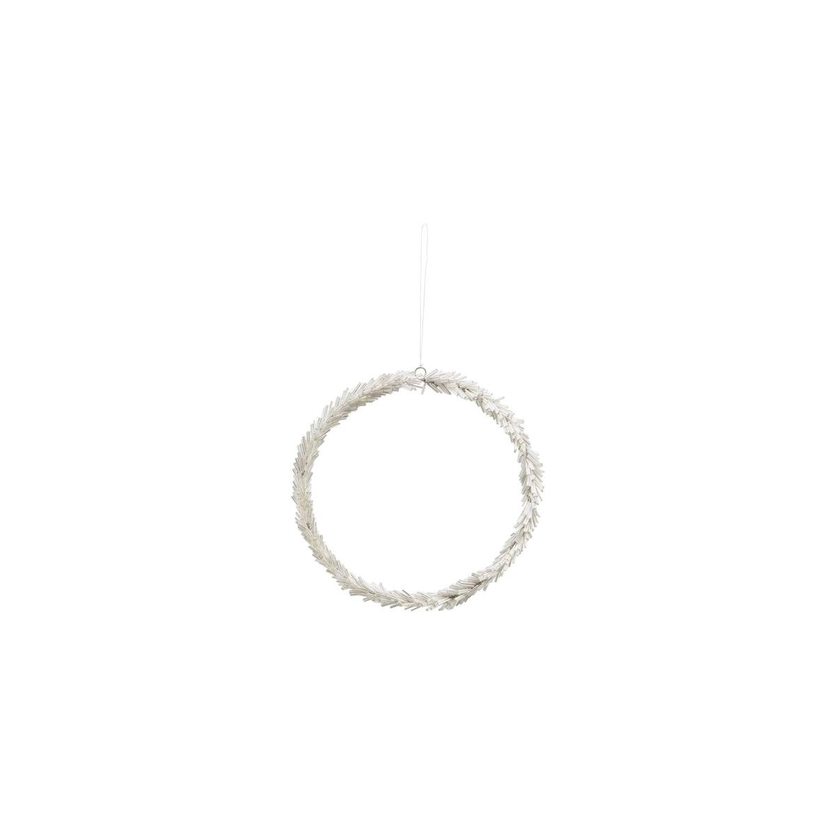 Věnec ze skleněných korálků CIRCLE P.20 cm stříbrný_0