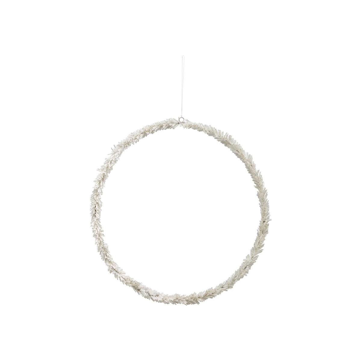 Věnec ze skleněných korálků CIRCLE P.36 cm stříbrný_0