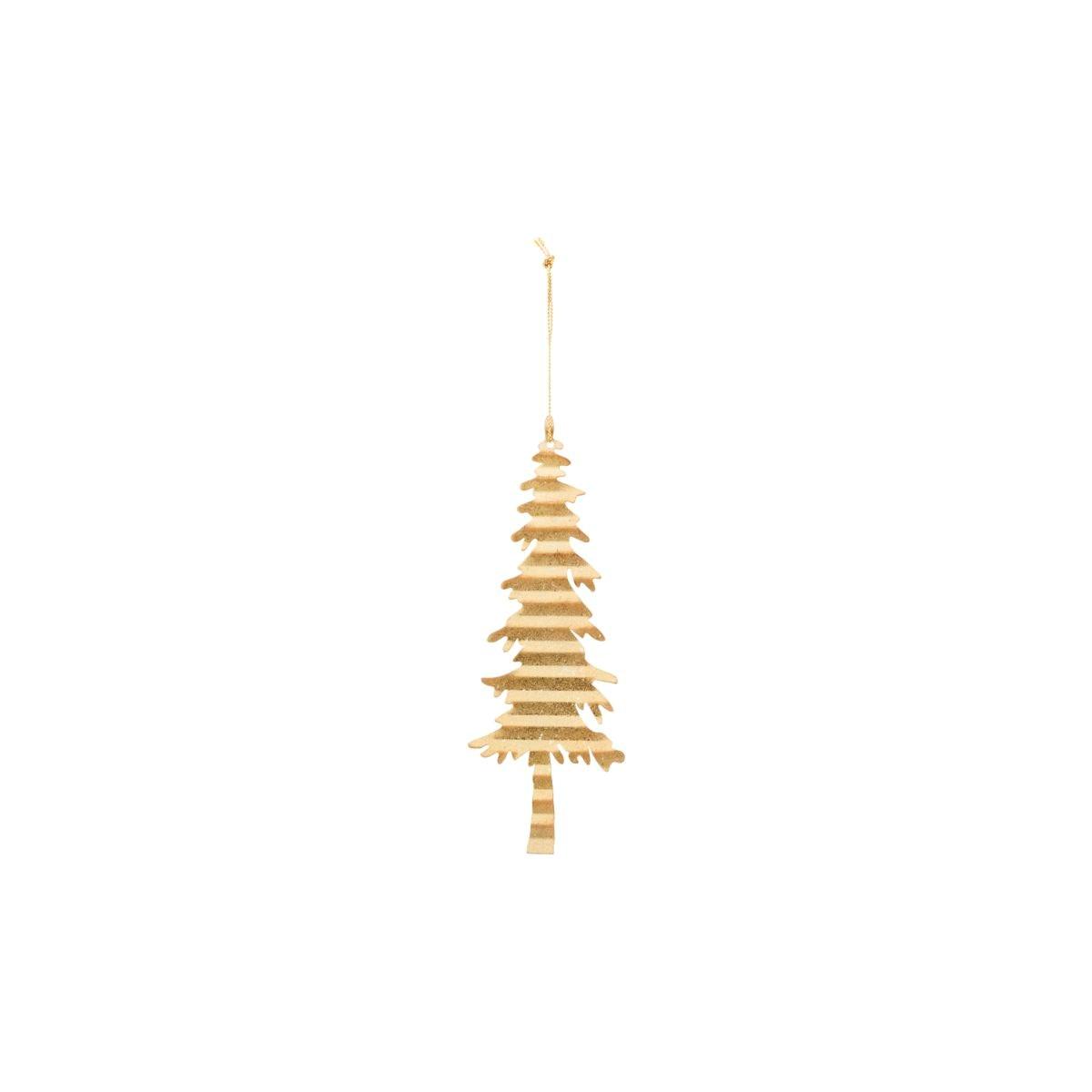 Dekorace plech. strom TREE zlatý_0