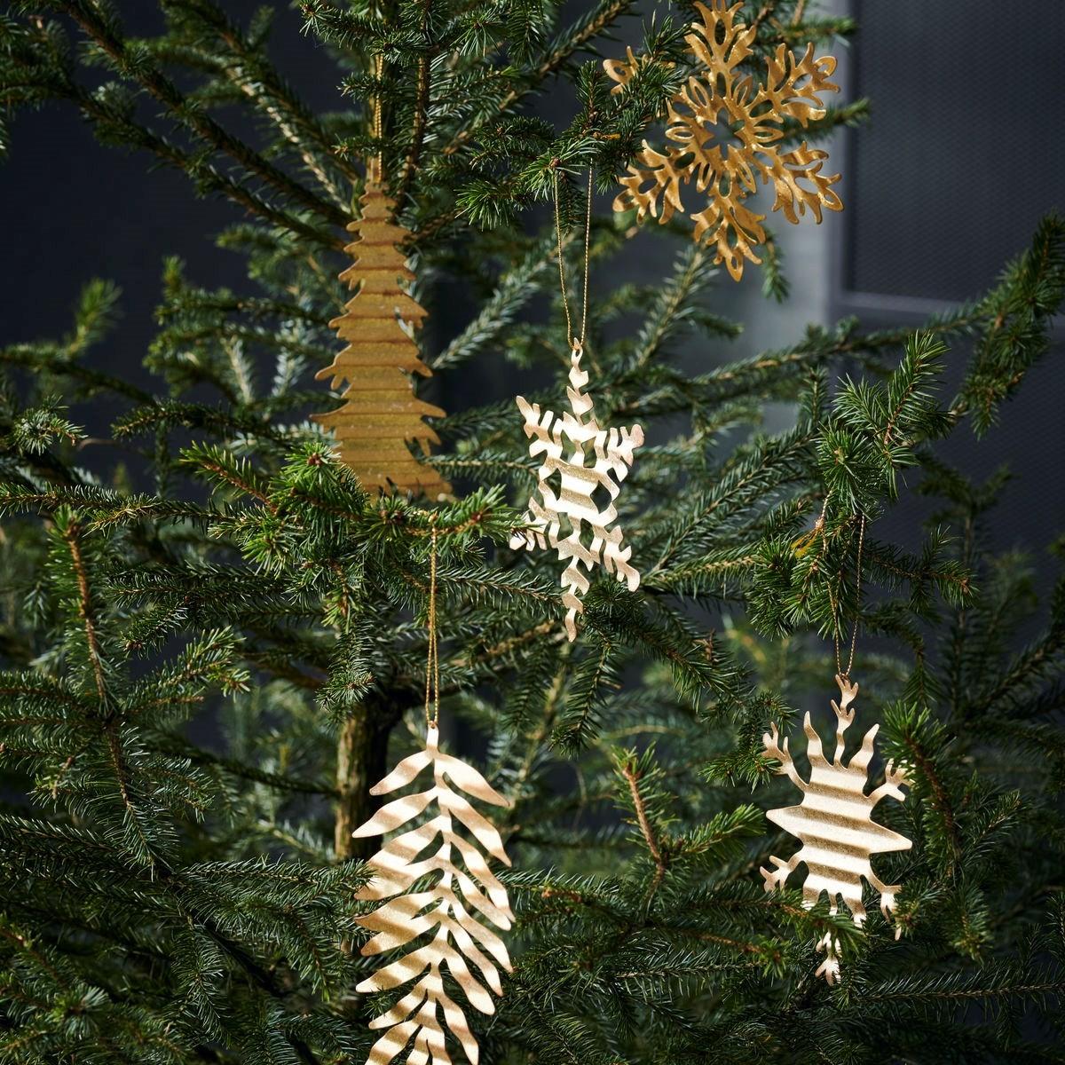Obrázek z Dekorace plech. květina SNOW FLOWER zlatá
