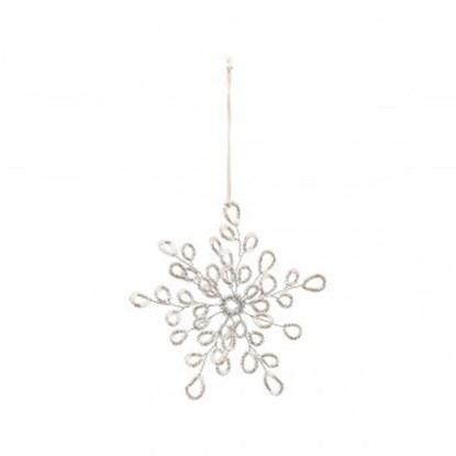 Obrázek Vánoční dekorace PLENTY stříbrná