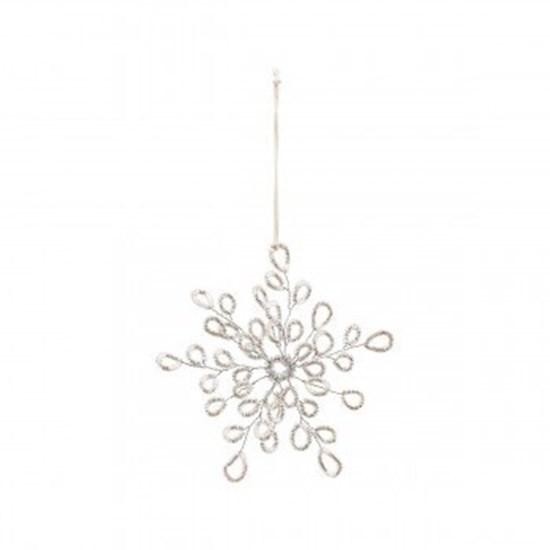 Obrázek z Vánoční dekorace PLENTY stříbrná