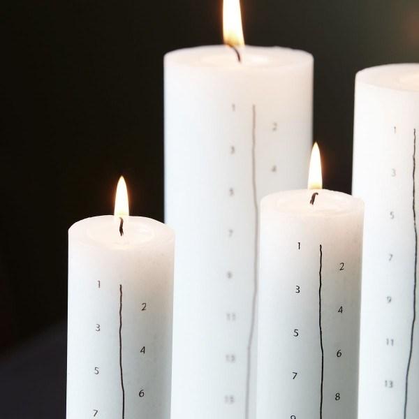 Obrázek z Svíčka Adventní kalendář, černá