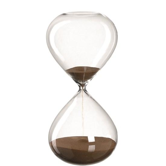 Přesýpací hodiny POSTO 30 cm hnědé_0