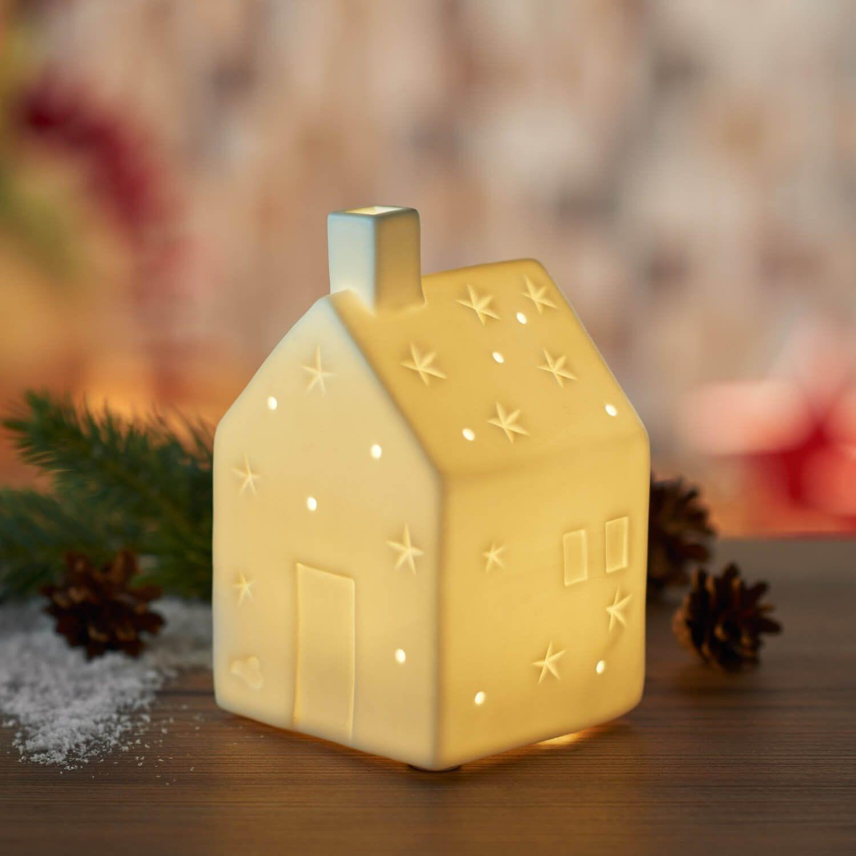 Porcelánový domeček s LED osvětlením_0