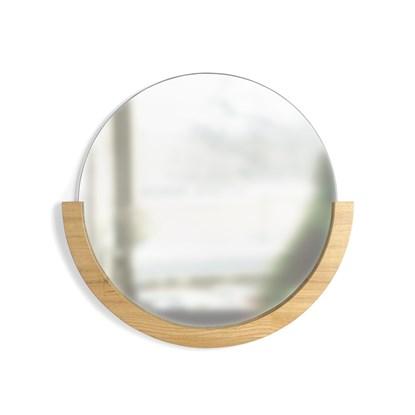 Zrcadlo MIRA s jasanovým rámem_0