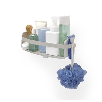 Koupelnová polička FLEX 33 cm šedá_0
