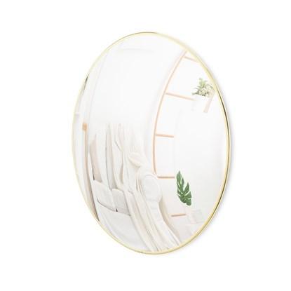 Vypouklé zrcadlo CONVEXA 86.5 cm s mosazným lemem_0