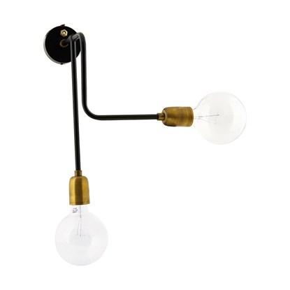 Lampa na stěnu Molecular Black/Brass_1