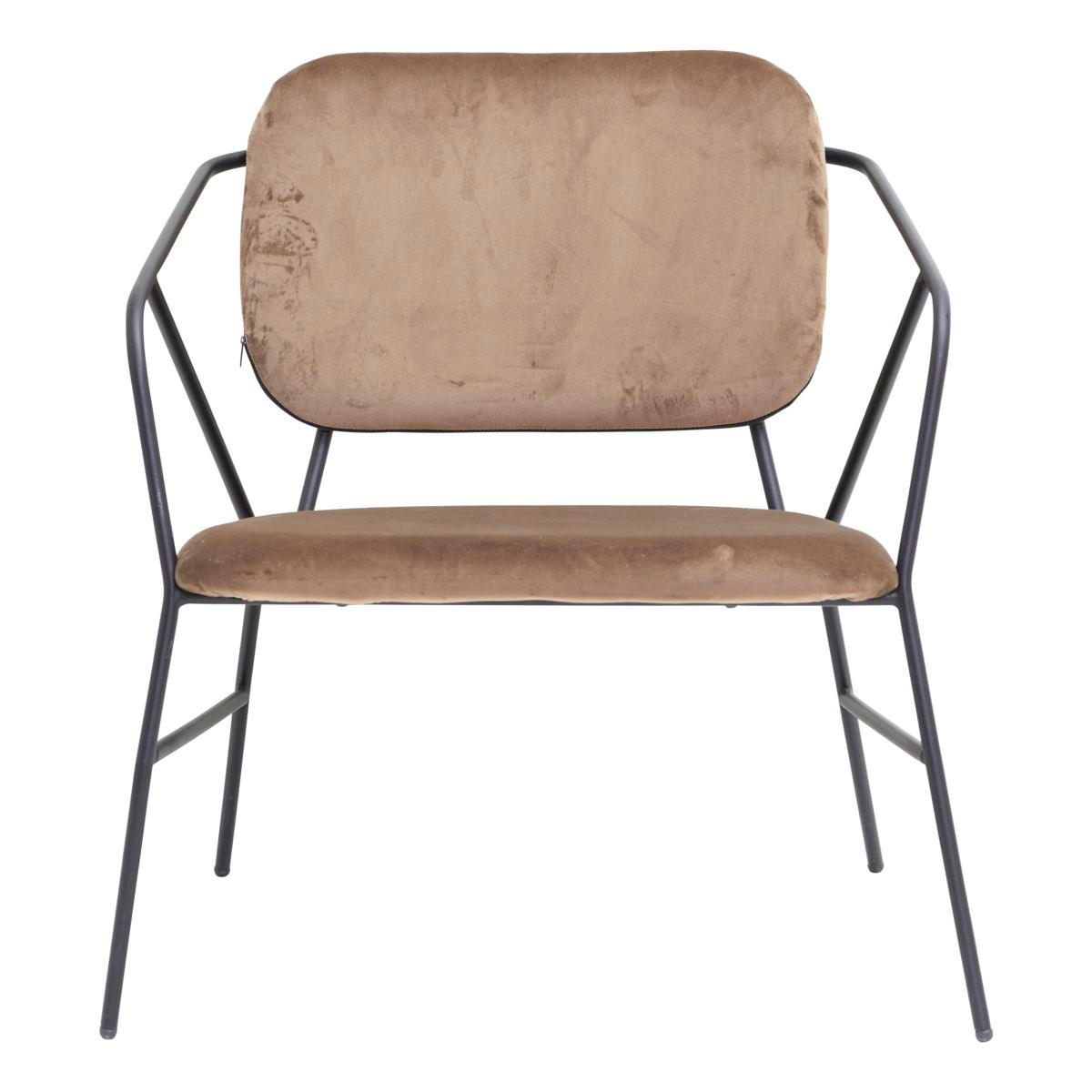 Křeslo / židle s opěrkou KLEVER hnědé_0