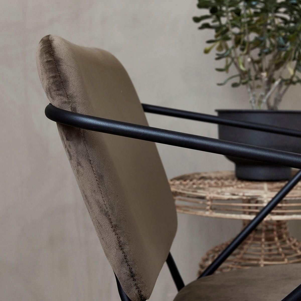 Křeslo / židle s opěrkou KLEVER hnědé_1