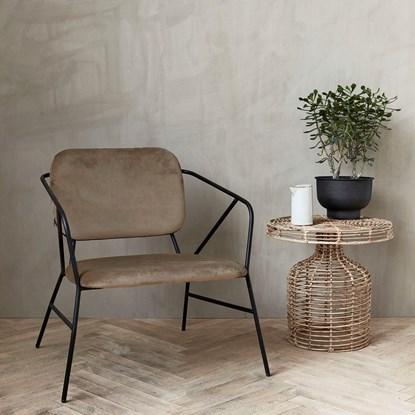 Křeslo / židle s opěrkou KLEVER hnědé_2