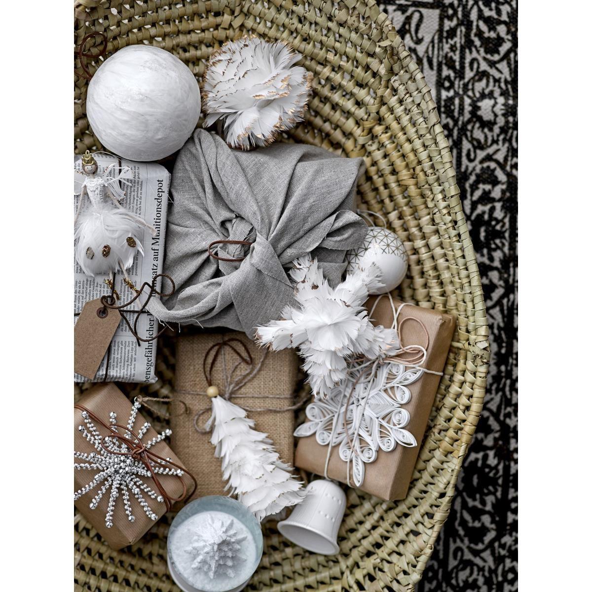 Dekorační anděl baletka z peří V.17 cm_1