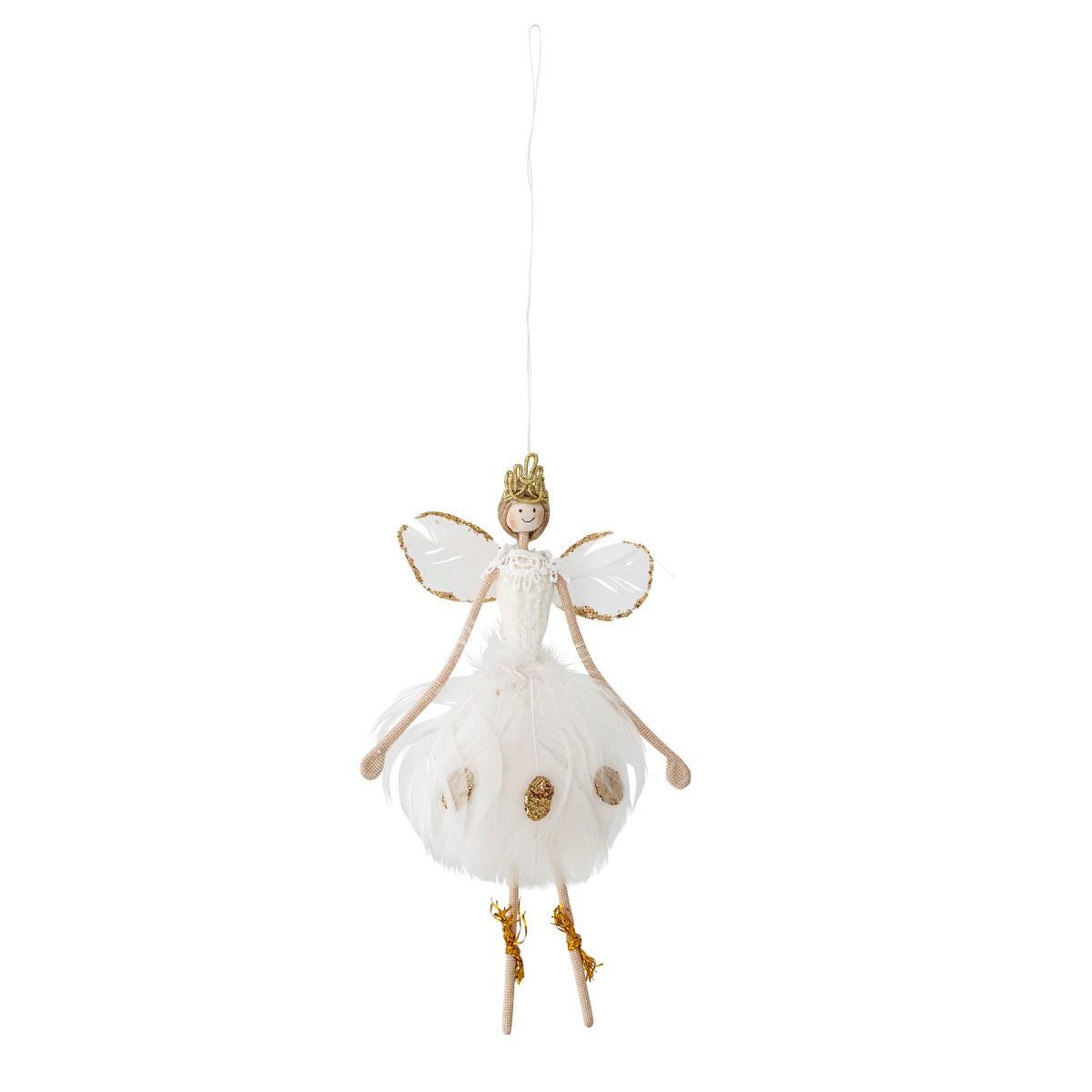 Dekorační anděl baletka z peří V.17 cm_2