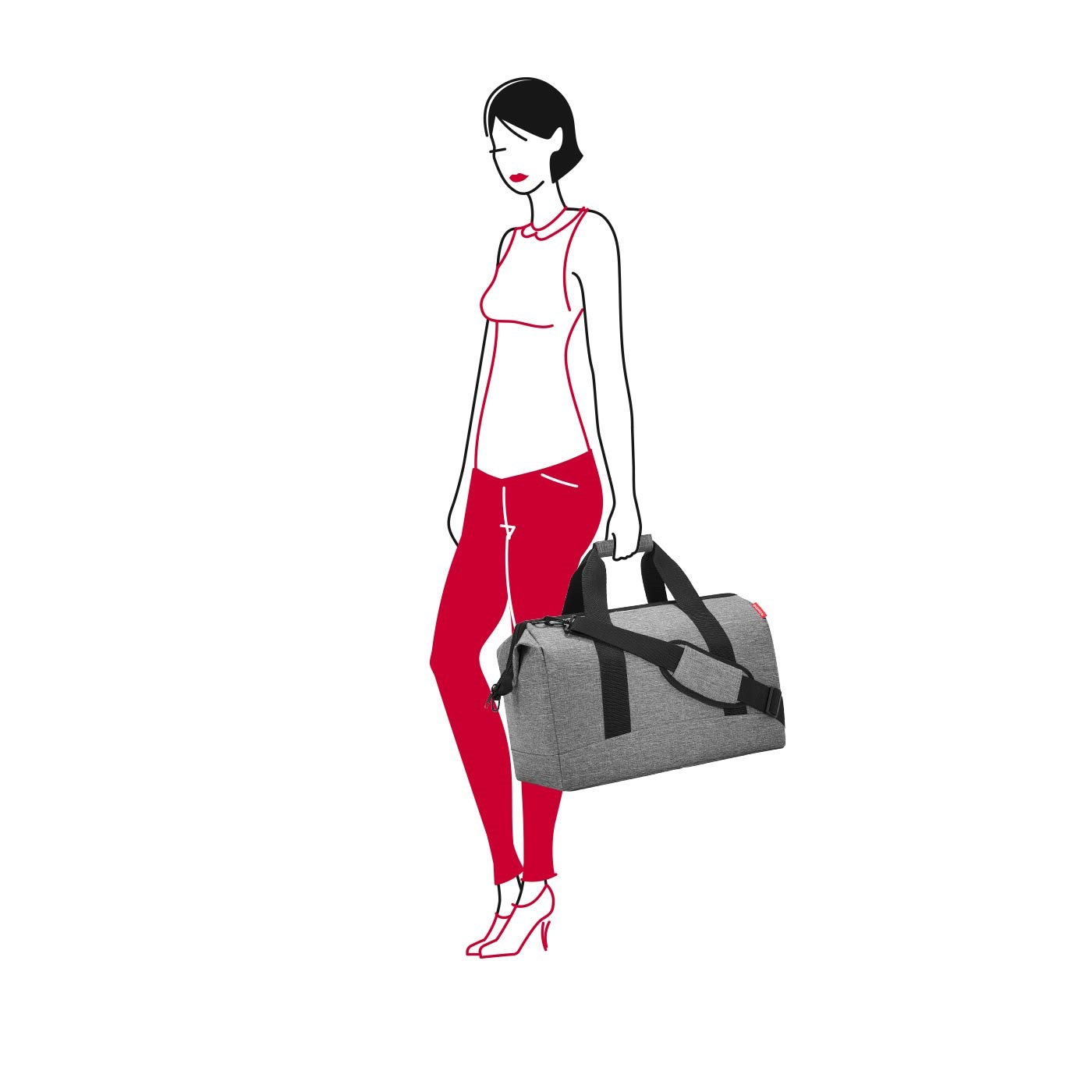 Cestovní taška Allrounder L twist silver_3