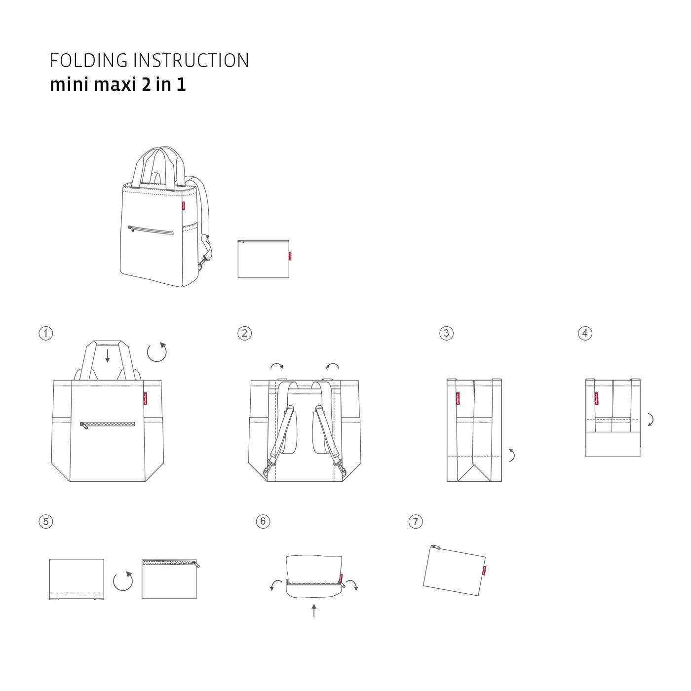 Skládací taška/batoh Mini Maxi 2in1 mixed dots_1
