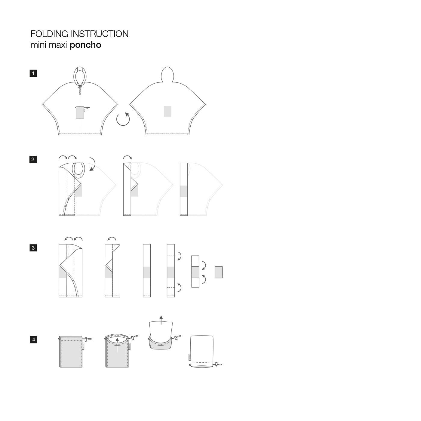 Skládací pláštěnka Mini Maxi Poncho zebra_1