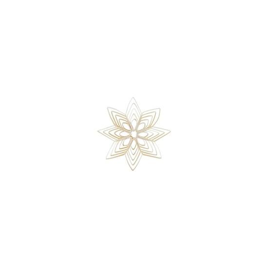 Papírová ozdoba hvězda QUILLING 10 cm bílá_0
