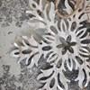 Dekorace plech. květina SNOW FLOWER stříbrná_0