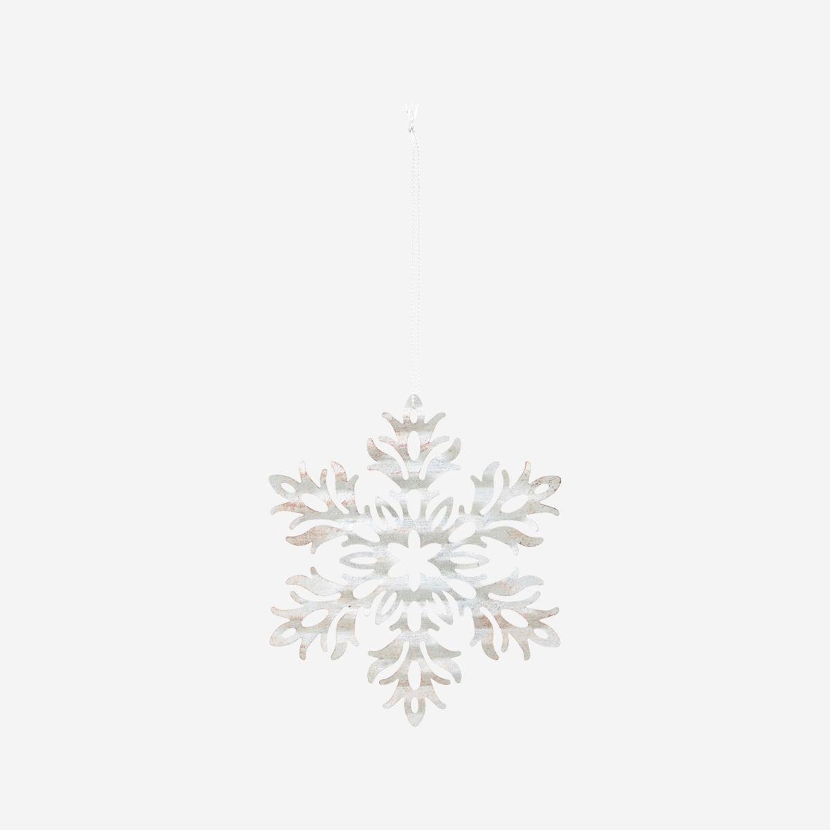 Dekorace plech. květina SNOW FLOWER stříbrná_2