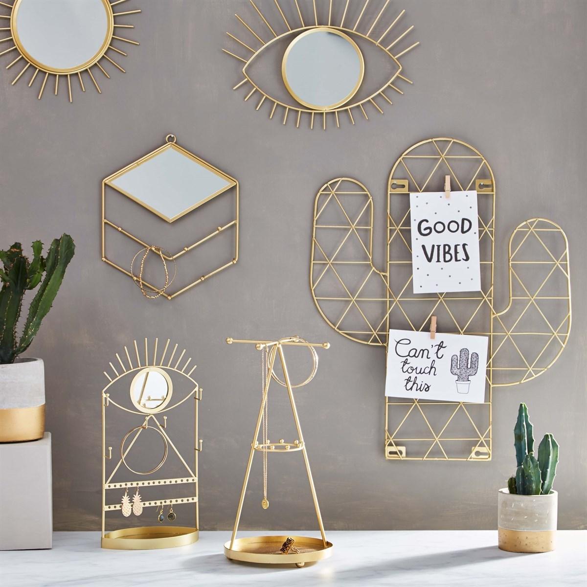 Zrcadlo Sunburst zlaté_0