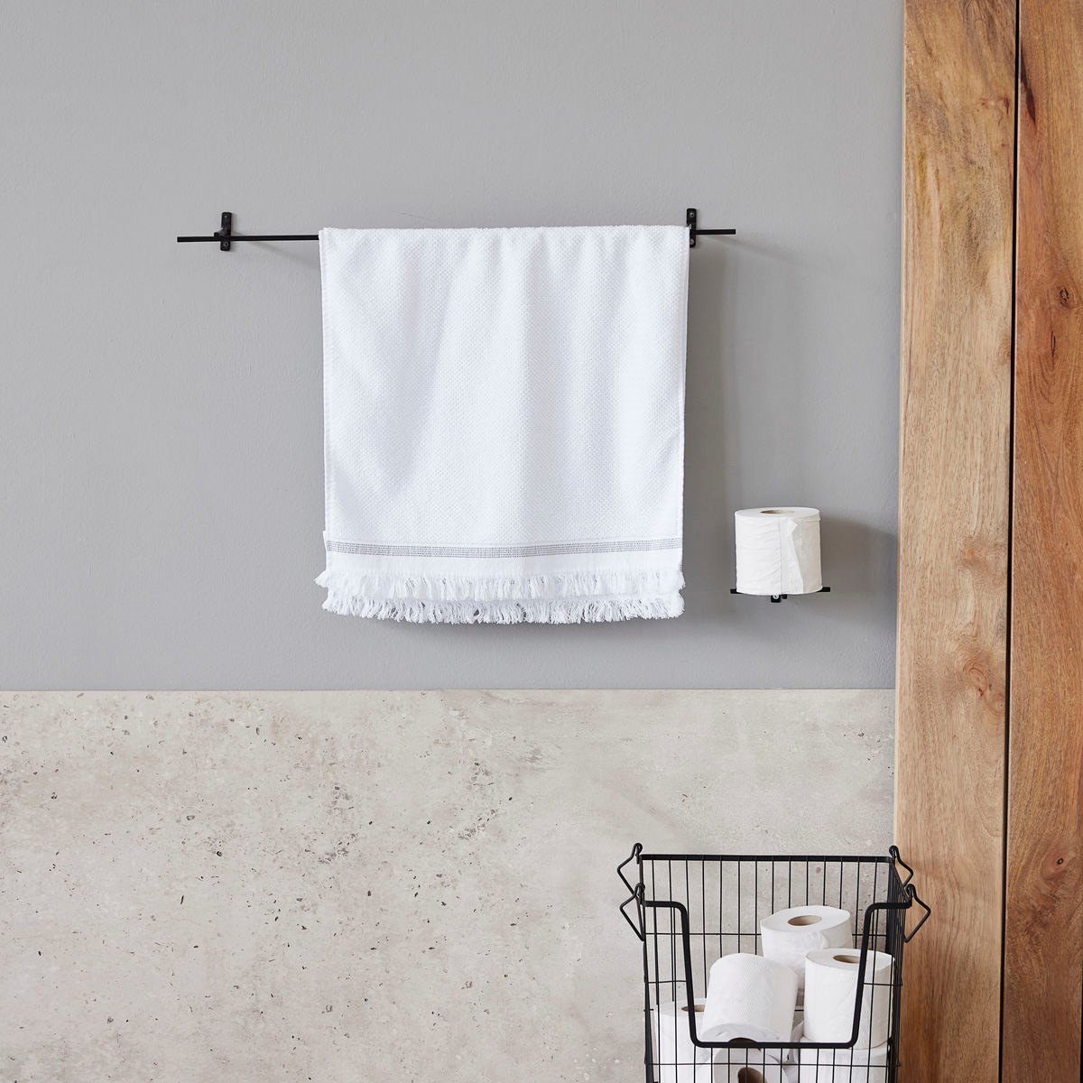 Věšák na ručníky ADD černý_0