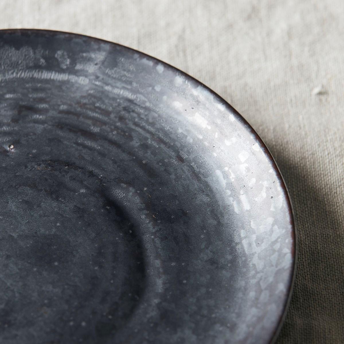 Dezertní talíř PION černá/hnědá_1