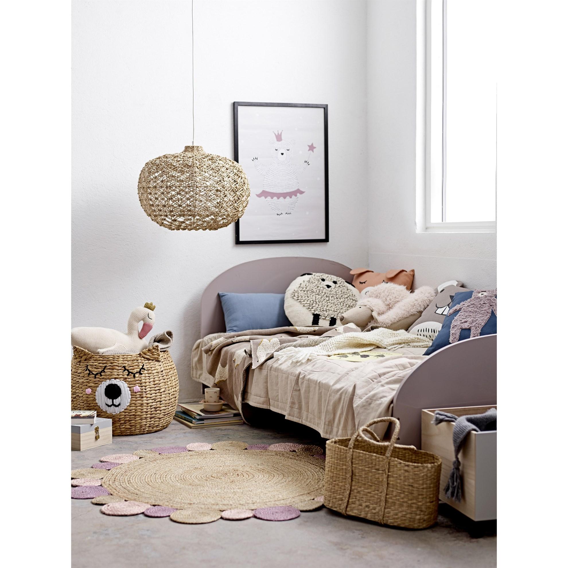 Bavlněný přehoz na postel 220x150 cm sv. hnědý_1