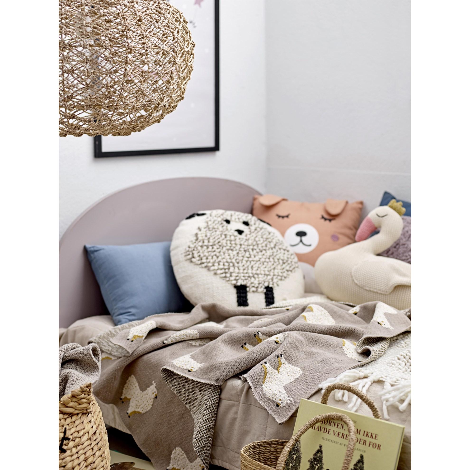 Bavlněný přehoz na postel 220x150 cm sv. hnědý_3