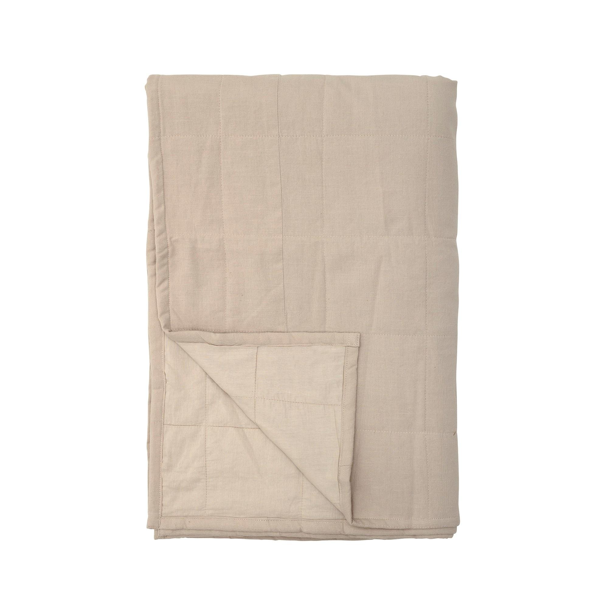 Bavlněný přehoz na postel 220x150 cm sv. hnědý_5