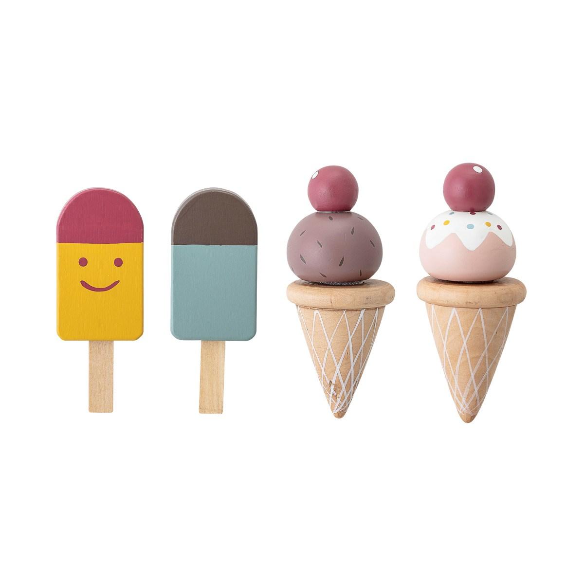 Dřevěná hrací sada Hasha zmrzlina SET/5 ks_0