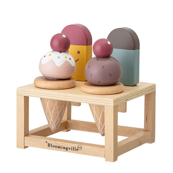 Dřevěná hrací sada Hasha zmrzlina SET/5 ks_7