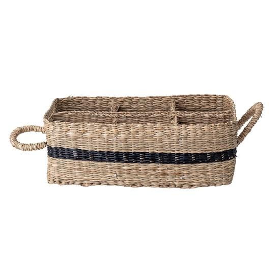 Košík s uchy s vnitřním členěním z mořské trávy 25x17 cm_3