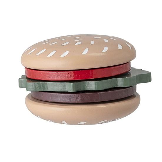 Dětský dřevěný set na přípravu hamburgeru_1