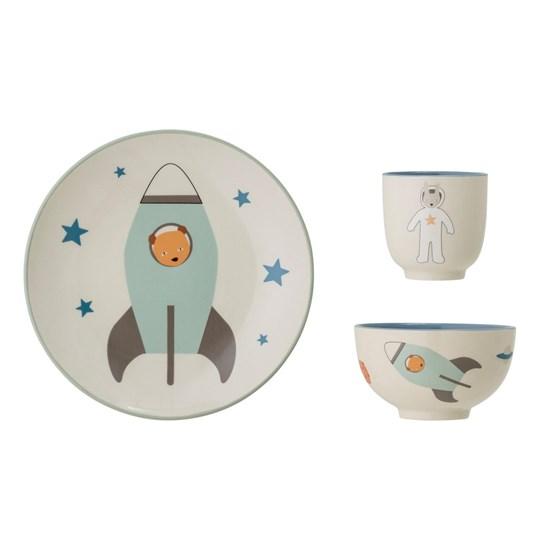 Kameninová dětská jídelní sada Space SET/3ks_4