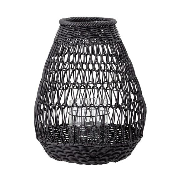 Ratanová lucerna Eira V.45,5 cm se sklem pro svíčku_0
