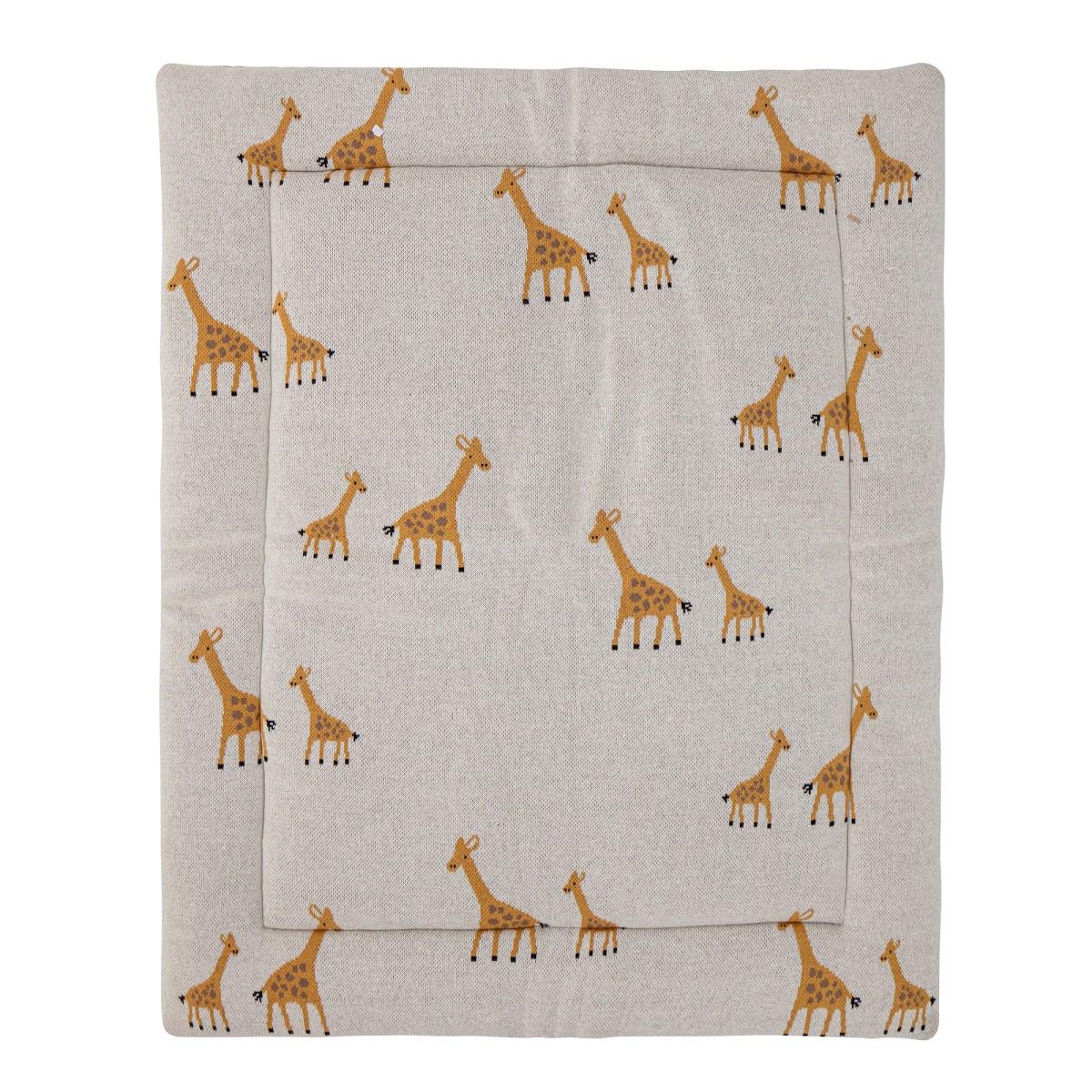 Bavlněná hrací podložka Giraffe 100x77cm_2