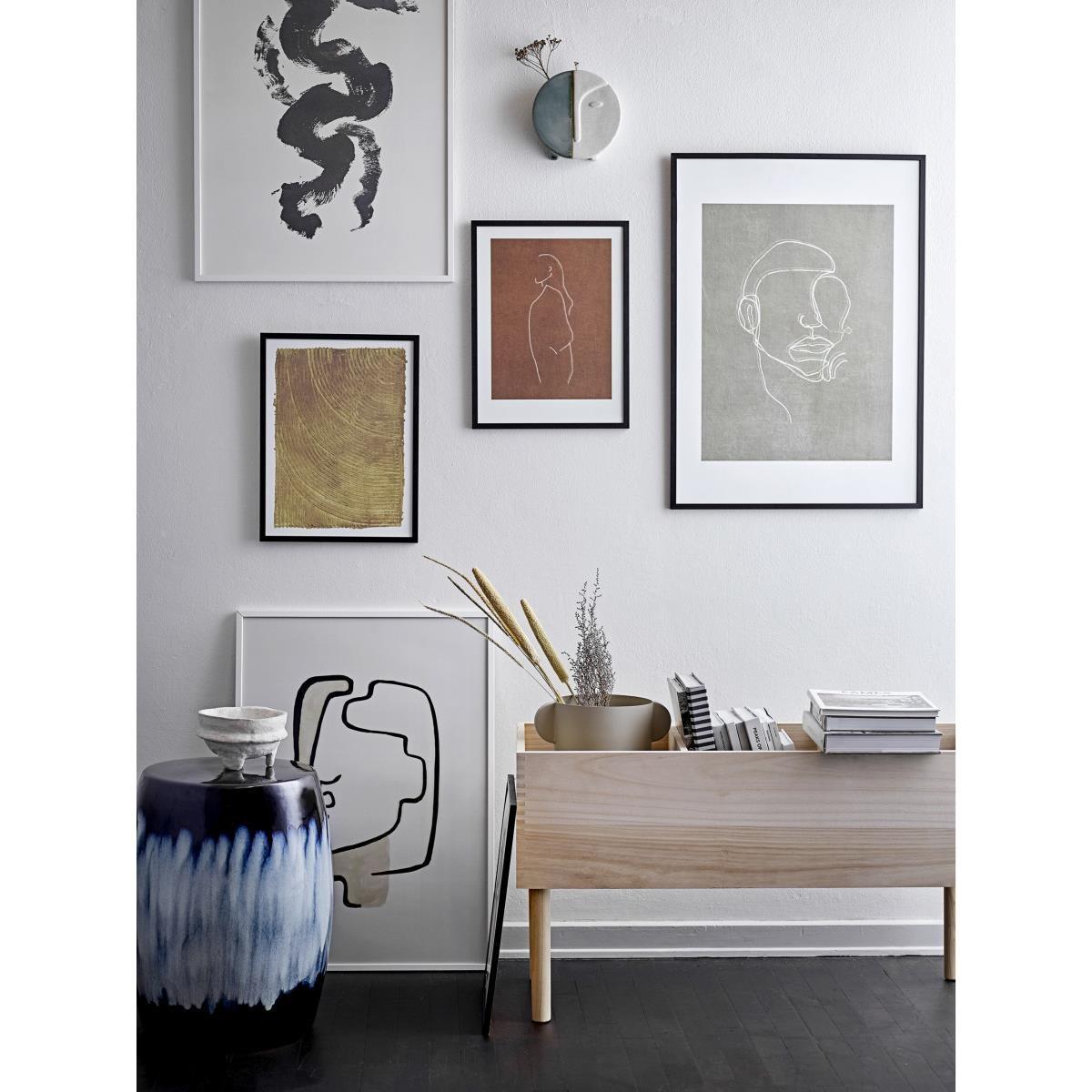 Obraz v černém dřevěném rámu Hake 52x72 cm_1