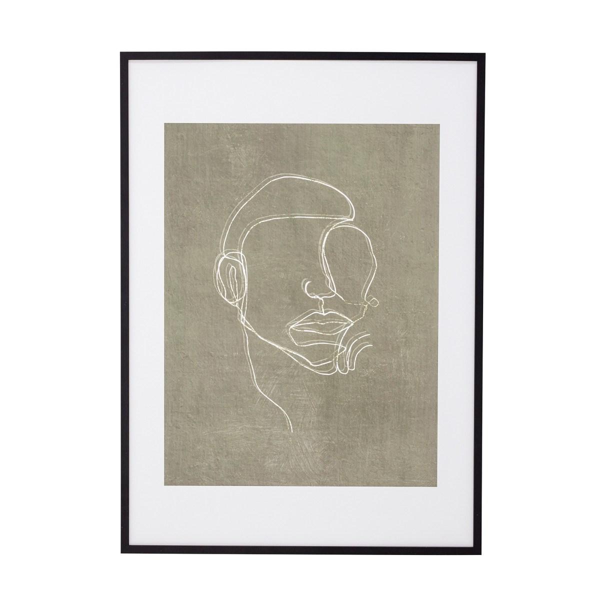 Obraz v černém dřevěném rámu Hake 52x72 cm_9
