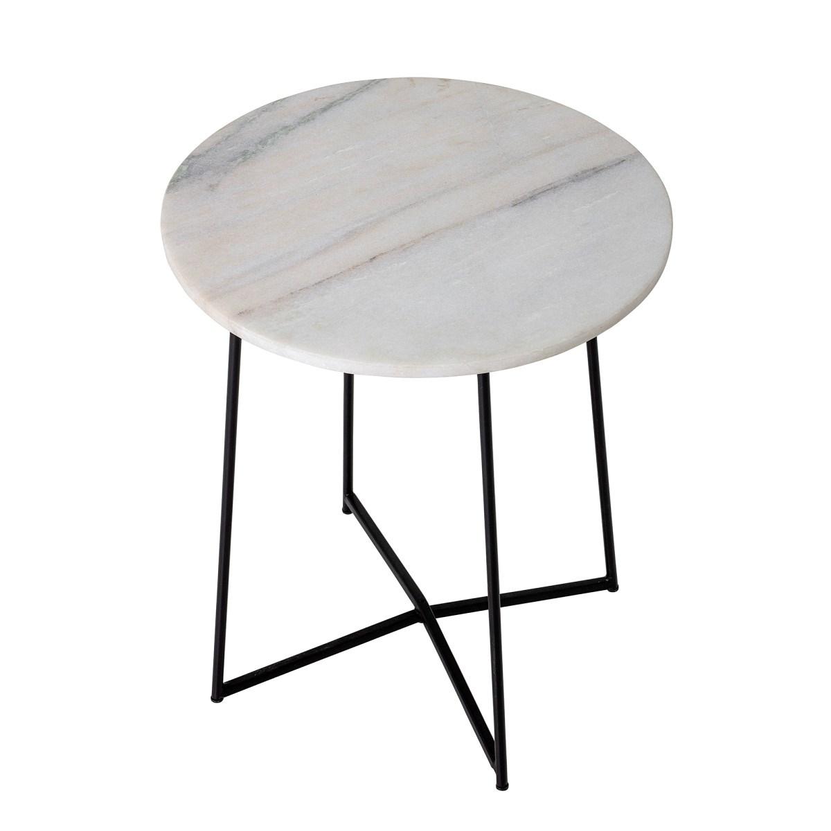 Odkládací stolek Anou s mramorovou deskou P.31 cm_0
