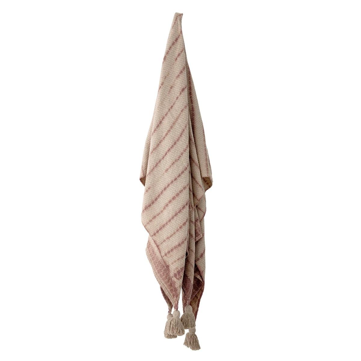 Pléd s třásněmi Frederika z recyklované bavlny 160x130 cm_1