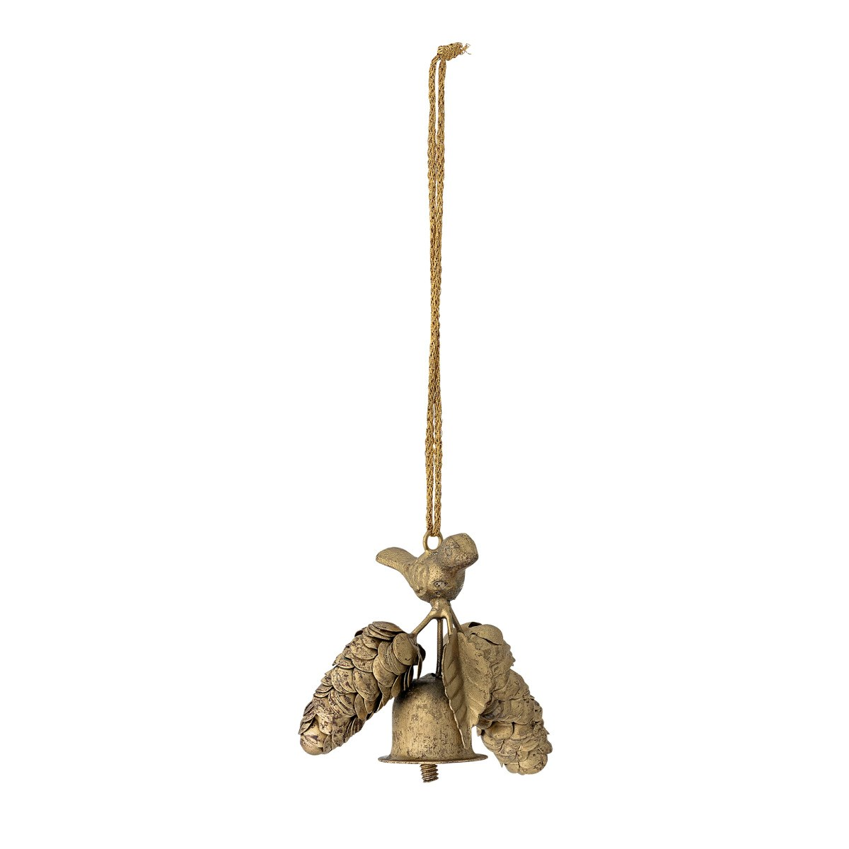 Kovová dekorace na zavěšení zlatá 9,5x7,5x5 cm_1