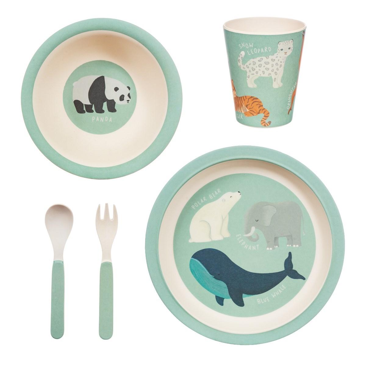 Dětský jídelní set Endangered Animals_1